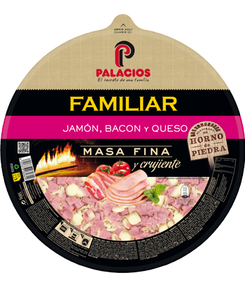 Pizza Familiar Jamón y bacon