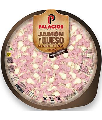 Pizza Masa Fina Jamón y Queso